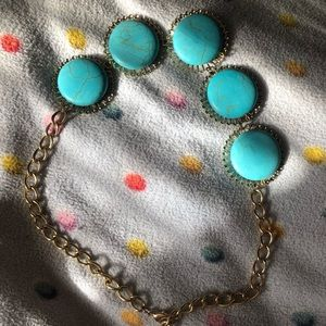 Sea Blue statement necklace